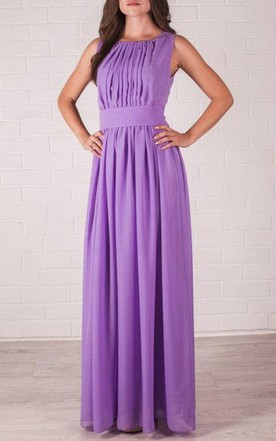Wedding Lilac Floor Length Evening Delicate Bridesmaid Dress