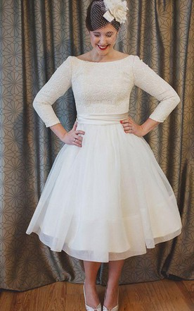 Short Plus Figure Wedding Dress, Short Large Size Bridals Dress ...