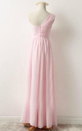 Floor-length Strapped Chiffon Dress