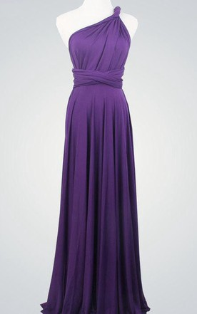 0eea58a74712 Purple Wrap Bridesmaid Multiway Convertible Party Long Dark Purple Infinity  Purple Dress ...