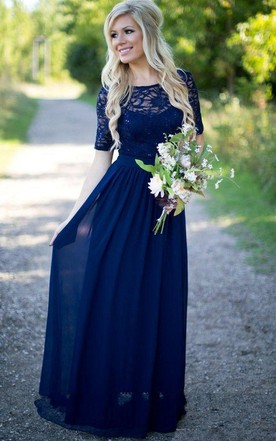 Modest Bridesmaids Gowns, Conservative & Mormon Dress for bridesmaid