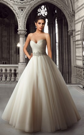 Sweetheart Organza Ball Gown With Beaded Waist ...