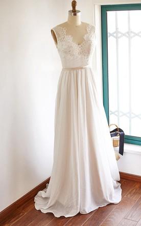 Vintage Plain Wedding Dress, Simple Style Vintage Bridals Dresses ...