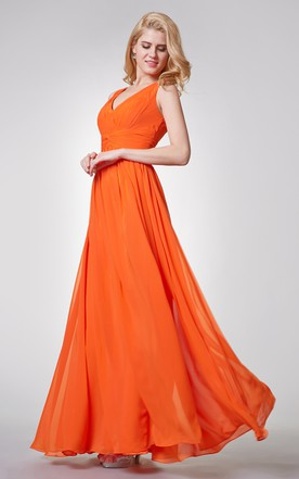 Orange & Tangerine Bridesmaid Dress - June Bridals