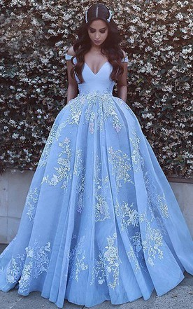 Princess Style Prom Gowns, Ball Gown Dresses - June Bridals