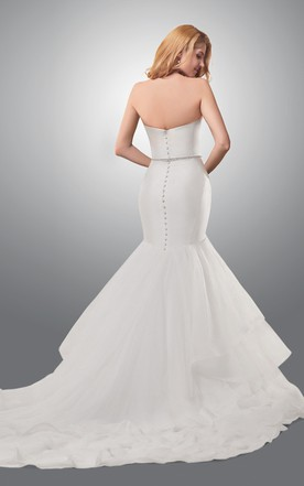 ... Modern Sweetheart Mermaid Wedding Dress With Cascading Ruffles