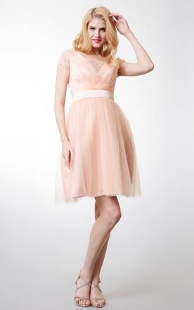 Pink Ombre Bridesmaid Dresses