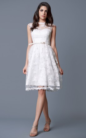 White Dresses Knee Length