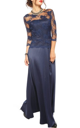 Floor-length Lace&Satin Dress