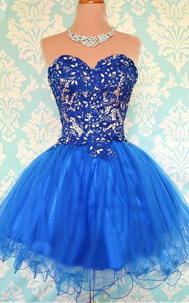 Modern Sweetheart Sleeveless Short Homecoming Dress With Appliques