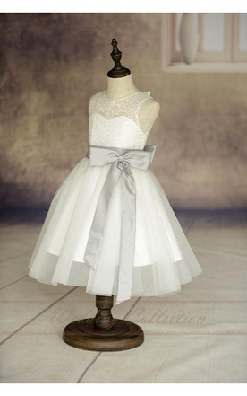 Affordable dresses for flower girls cheap junior brides dresses ivory sleeveless lace bodice tulle flower girl dress with eggplant sash and bow mightylinksfo