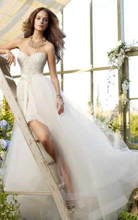 Wedding Gowns with Removable Skirts   Detachable Skirts Bridal ...