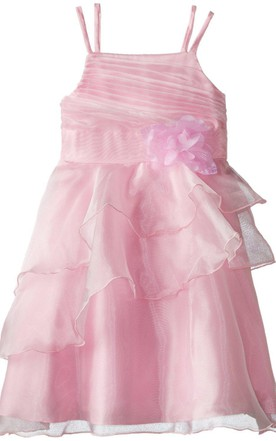 Sleeveless Tiered Dress With Ruched Bodice
