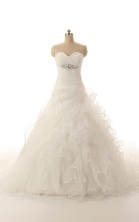 8b8cb0618a3 Modern Sweetheart Ball Gown With Ruffles and Crisscross Ruching ...