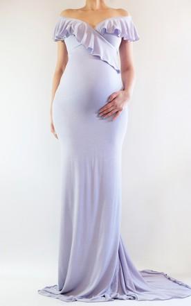 Plus Figure Maternity Prom Dresses Large Size Pregnant Formal Dress