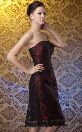 f10644e957 Strapless Short Pencil Dress With Bolero ...