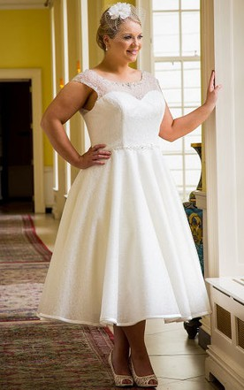 Tea Wedding Gowns, Short/Midi Length Bridal Dress - June Bridals