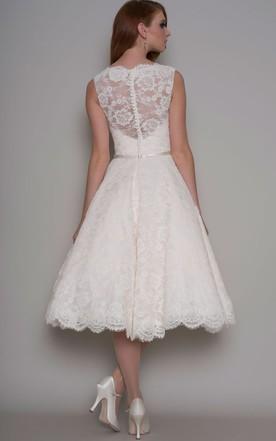 Older Brides Bridal Dresses Tea Length, Mature Tea Dresses - June ...