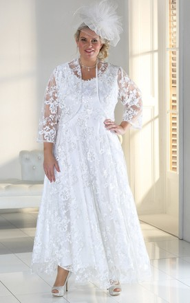 Super Large Size Bridals Dresses, Plus Figure Wedding Gowns - June ...