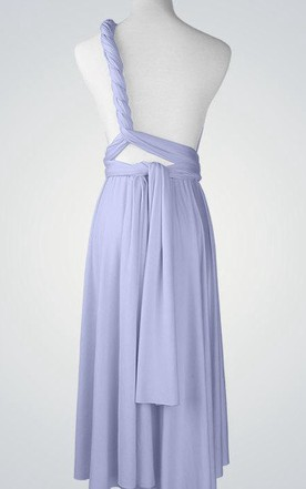 One-shoulder Short Jersey Bridesmaid Dress
