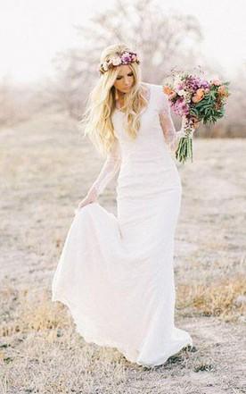 Sheath & Column Style Wedding Gowns - June Bridals