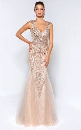 Nude Evening Dresses | Nude Formal Dresses - June Bridals