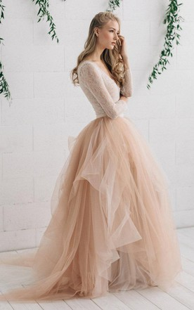 Bridal gowns with colors colored dresses for wedding june bridals tulle satin tiers zipper wedding dress tulle satin tiers zipper wedding dress junglespirit Gallery