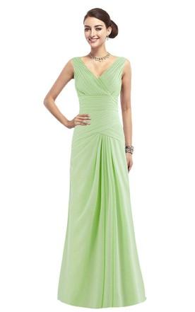 Long bright green prom dresses
