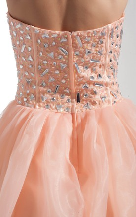 Sweetheart Pleated A-Line Ball Gown with Gemmed Bodice