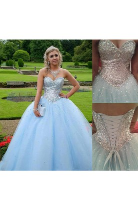 Sweetheart A-line Ball Gown with Sequins