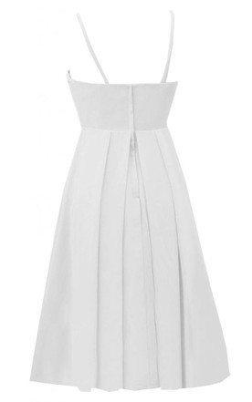Sleeveless Spaghetti Strap Ruched Midi-length Chiffon Dress