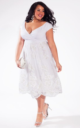 Short Plus Figure Wedding Dress Short Large Size Bridals Dress