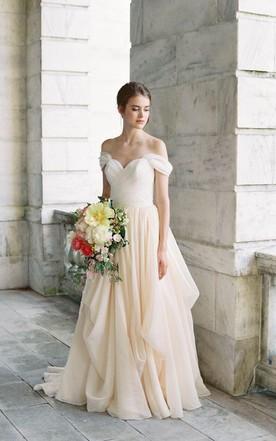 Criss Cross Fitted Wedding Dress