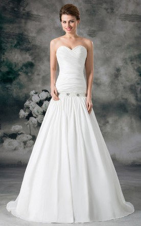 Low Waist Style Wedding Dresses | Dropped Wedding Gowns - June Bridals