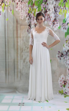 Simple Style Garden Bridals Dress, Simple Wedding Dresses for ...