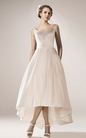 Vintage High Low Wedding Gown With Straps ...