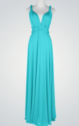 Strapped Chiffon Floor-Length Dress With Pleats