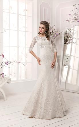 3b3b3578b705 Long Sleeve Crystal Detailing Sheath Dress ...