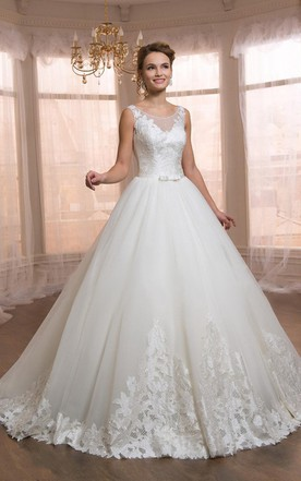 Cute style wedding gowns bridal dresses cute june bridals sleeveless sleeve tulle lace weddig dress junglespirit Gallery