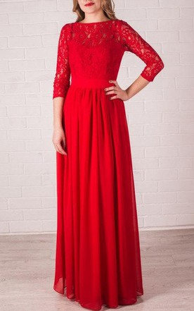 abd3084a8e87 Red Long Bridesmaid Lace Handmade Red Chiffon Wedding Party Long Red Prom  Dress ...