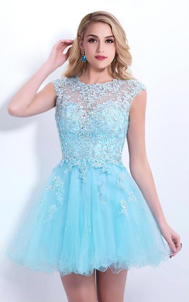 4be8fdee19 Light/Sky Blue Formal Dresses | Prom Gowns By Colors - June Bridals
