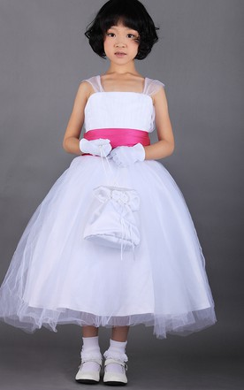 Princess Ballerina A-Line Princess Ball Gown With Soft Tulle And Straps