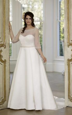 Plus Figure Modest Bridal Dresses Large Size Conservative Wedding