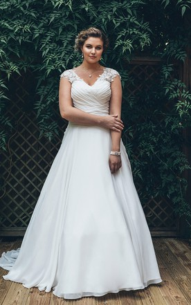 Plus Figure Beachy Wedding Gowns Beach Large Size Bridals Dresses