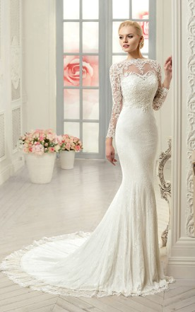 Stylish Trumpet & Mermaid Wedding Dresses with Sleeves - June Bridals