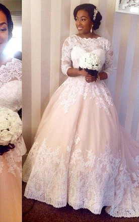 Fat figure wedding dresses large size bride bridals dress for Wedding dresses for larger figures