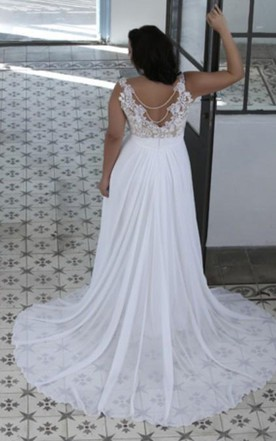 ... A Line Sheer Bateau Neck Sweetheart Lace Top High Quality Plus Size  Brides Gown
