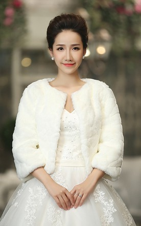 537196ffb873 Bridal Wedding Long-sleeved Shawl New Winter Print Outer Warm Dress Jacket  ...