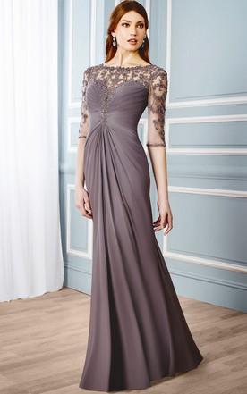 Empire Waist Evening Dresses | Greek Style Evening Gowns - June Bridals