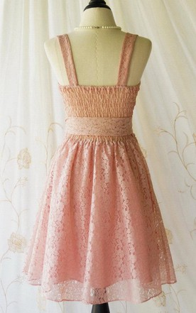 Lace Vintage Design Dress with Bow